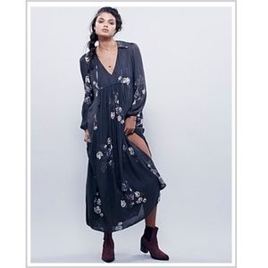 Free People Rosemary Long Sleeve Floral Maxi Dress